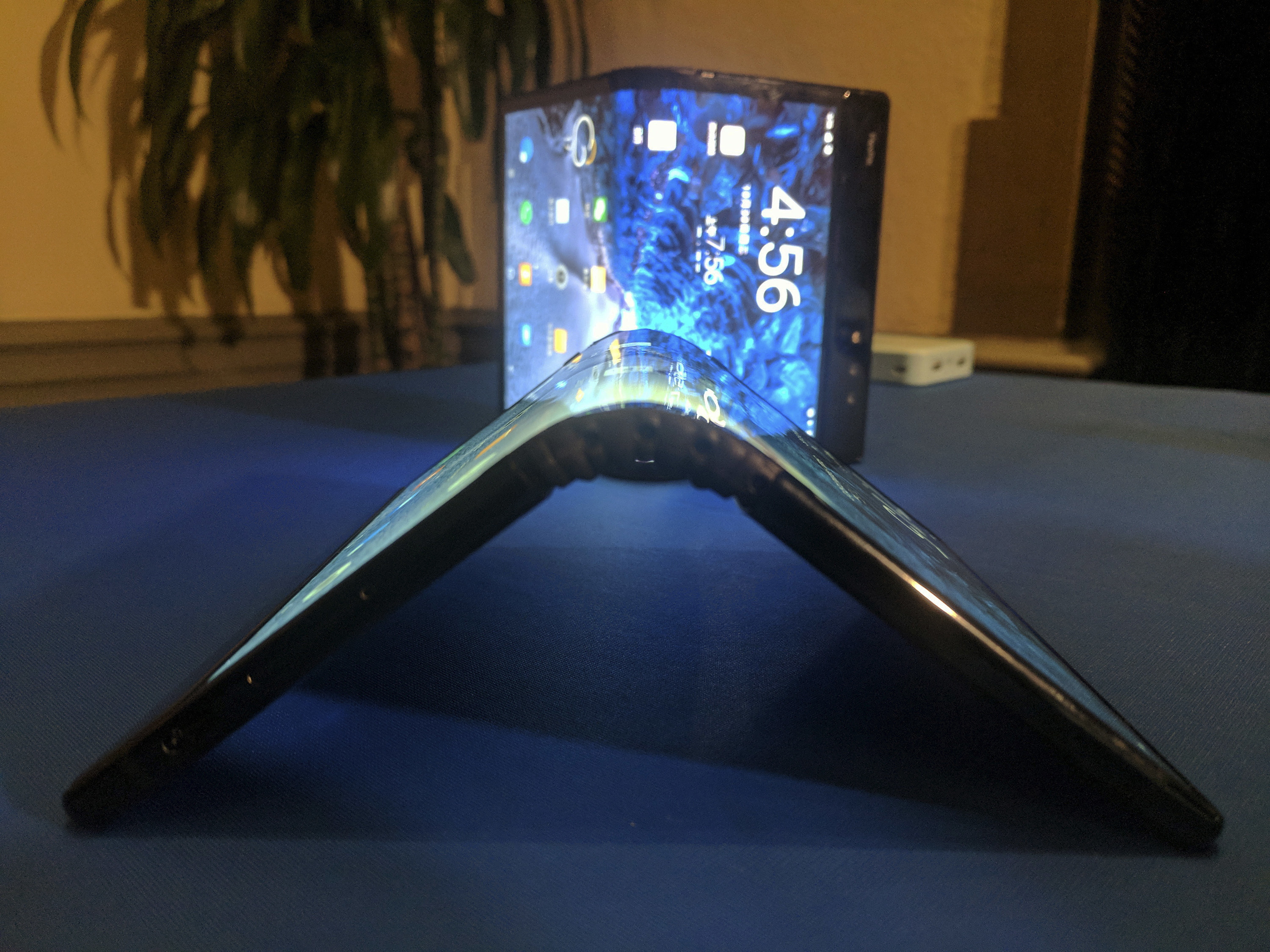 Samsung has unveiled its first smartphone with a bendable screen.
