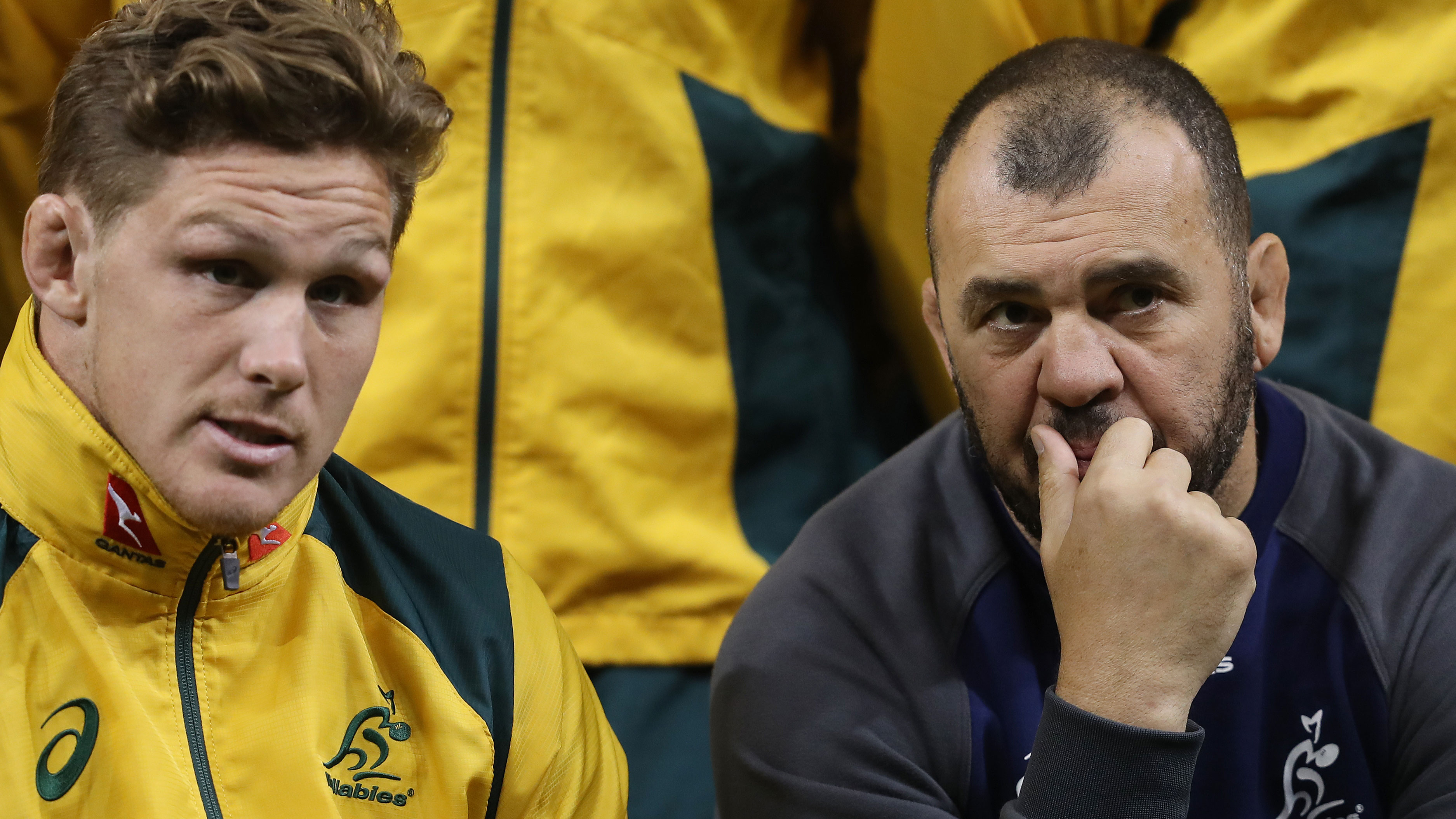Michael Hooper and Michael Cheika