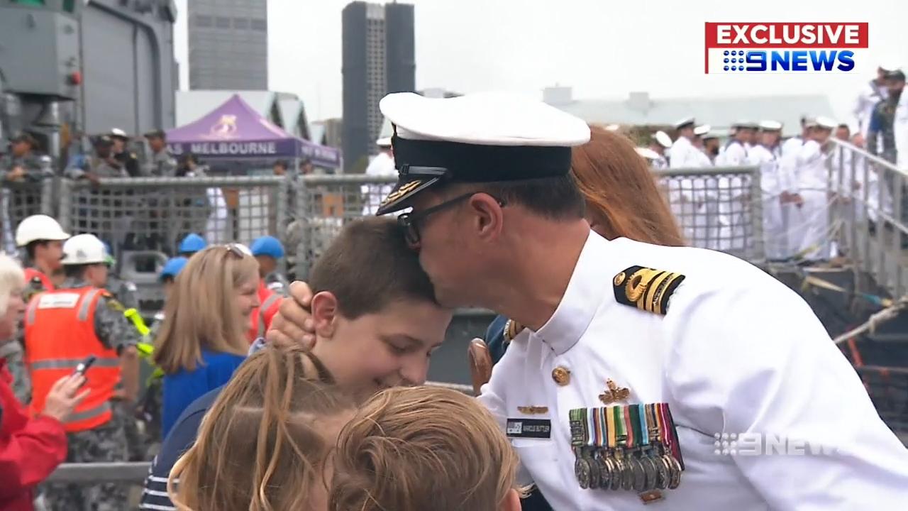 HMAS Melbourne: 'Privilege to command 220 Australians'