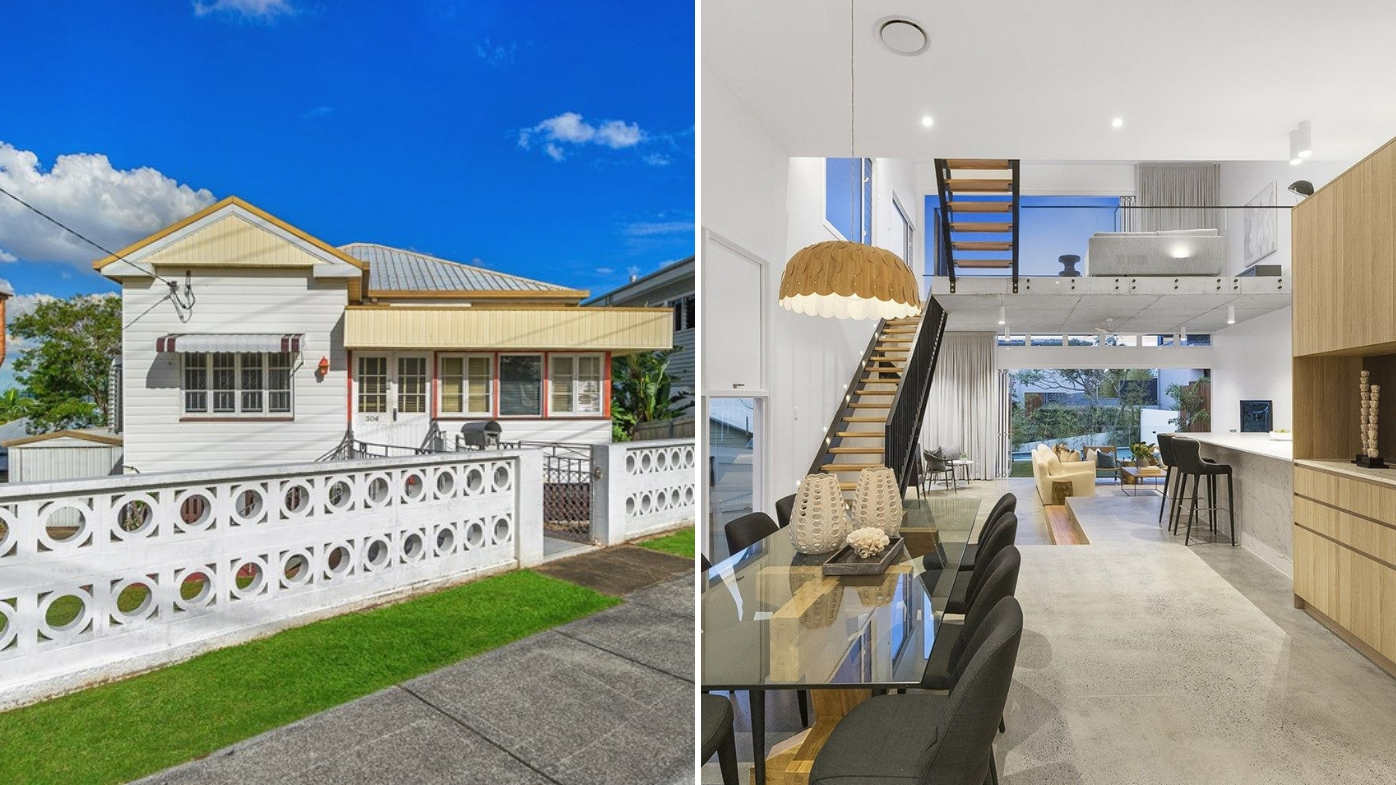 Brisbane home transformed from worker's cottage to luxury residence