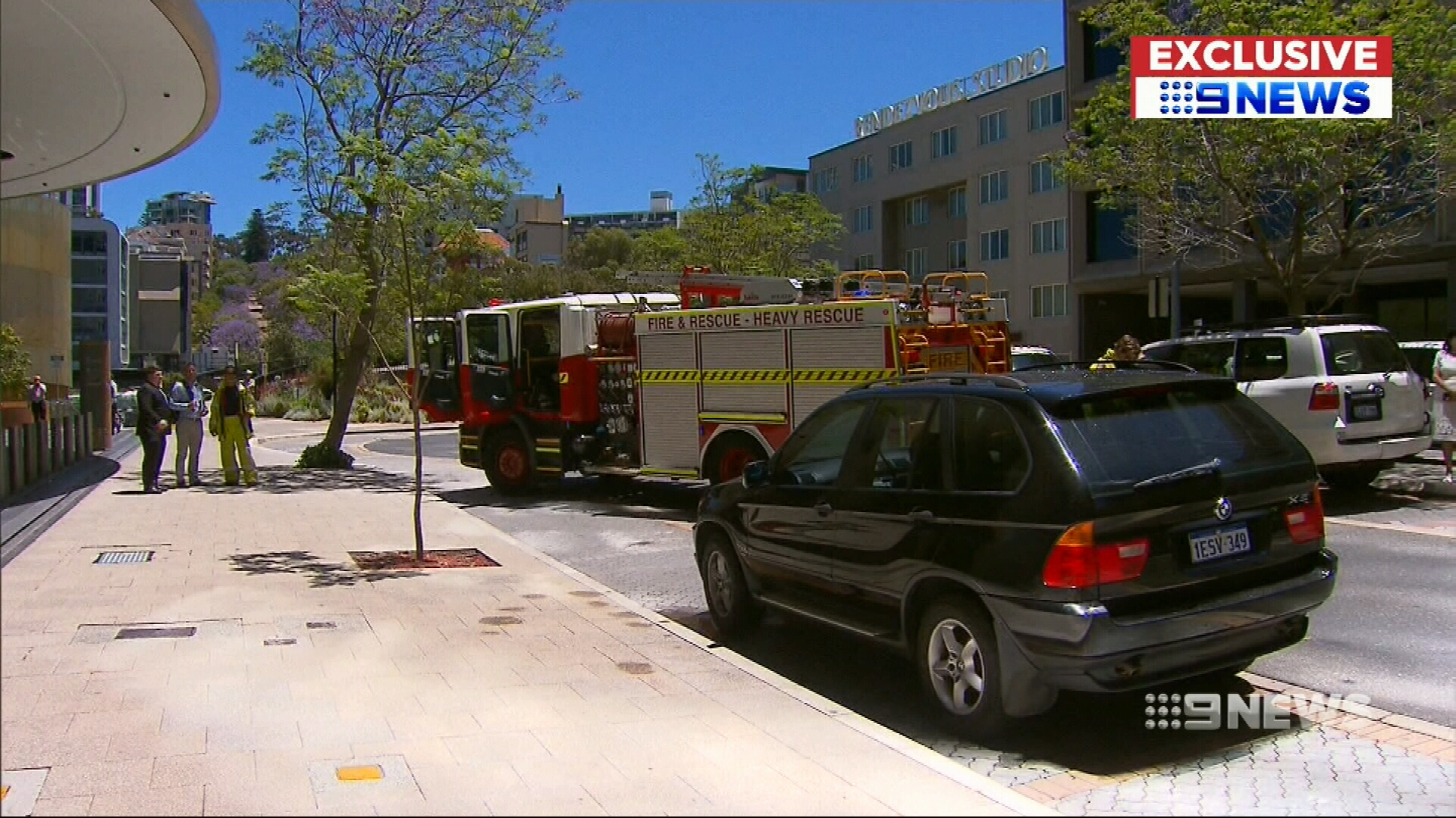 'It's smoking!': City office building almost sets car on fire