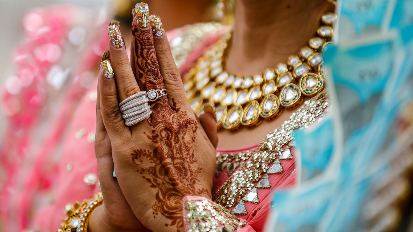 Indian groom shot on his wedding day
