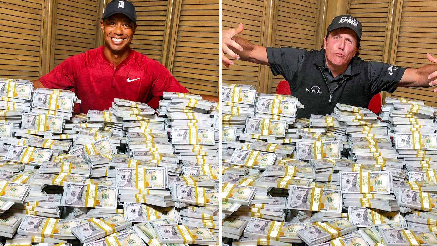 tiger woods vs phil mickelson  the match divides golf