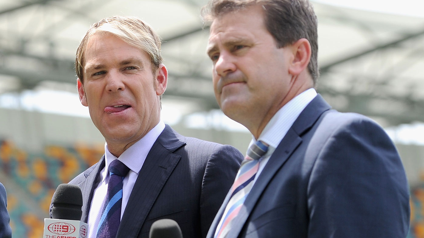Shane Warne (left) and Mark Taylor.