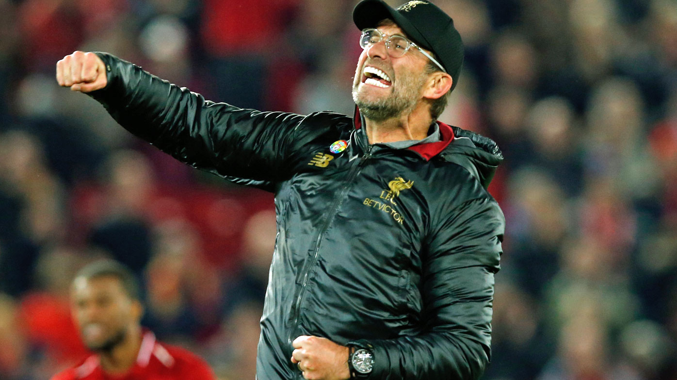 Klopp ran onto the pitch after the goal