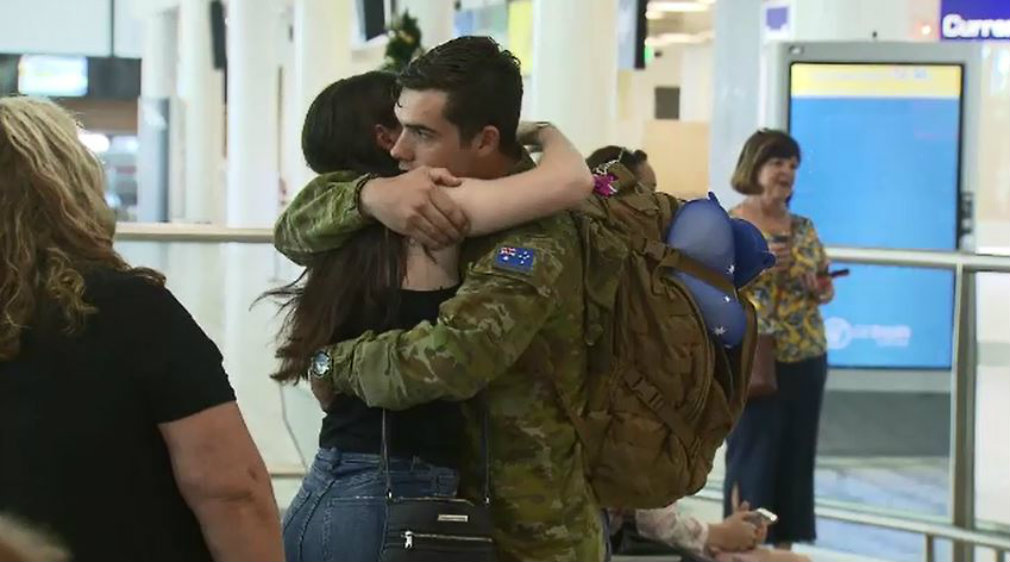 Aussie troops home for Christmas
