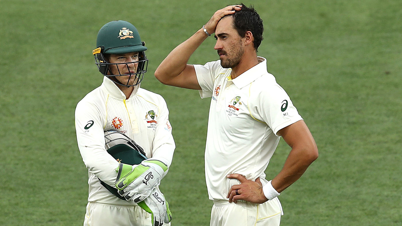Tim Paine (left) and Mitchell Starc