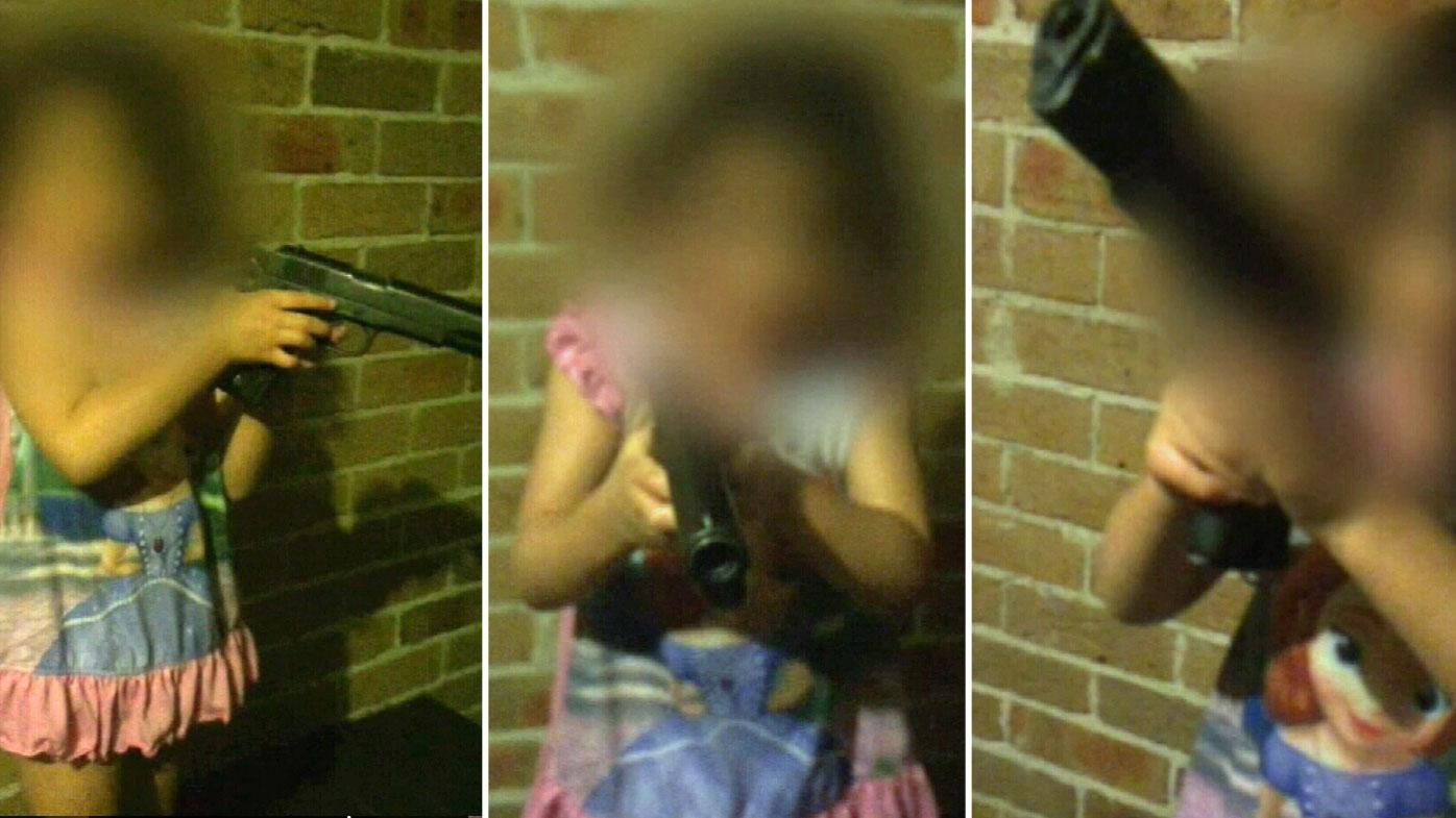 Sydney dad hands gun to toddler