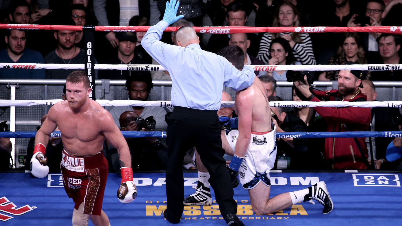 Canelo makes short work of Fielding - Wide World of Sports image