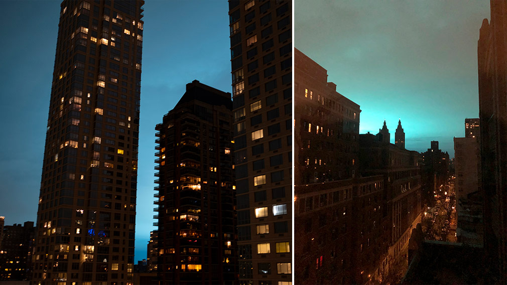 New York Transformer Explosion Eerie Pulsing Blue Light