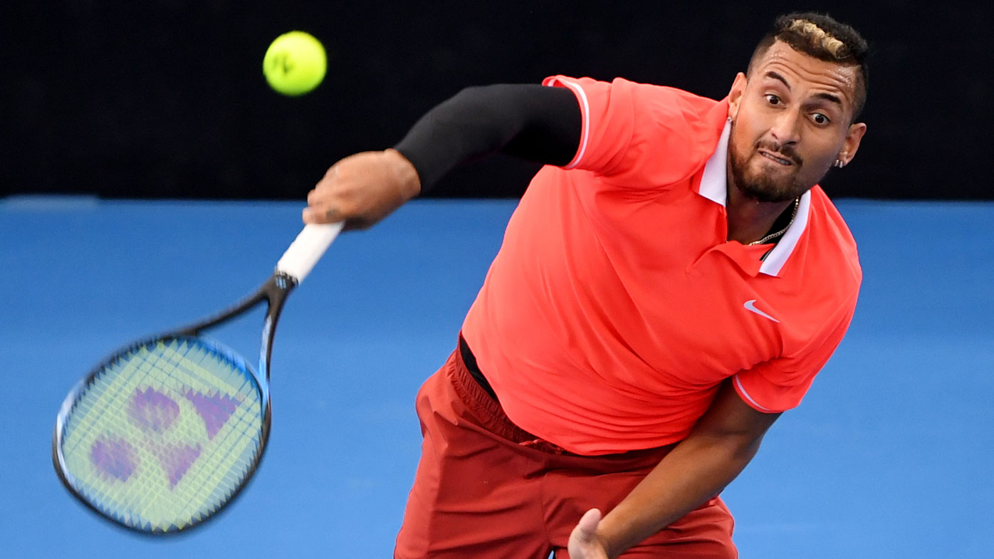 Bernard Tomic baffles Nick Kyrgios with weird  match-winning serve