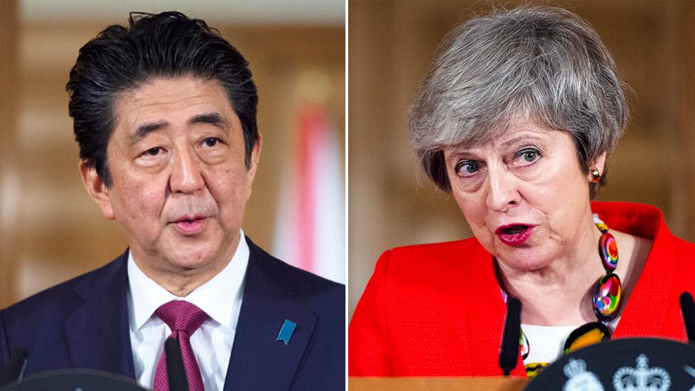 Shinzo Abe hopes UK will avoid no-deal Brexit