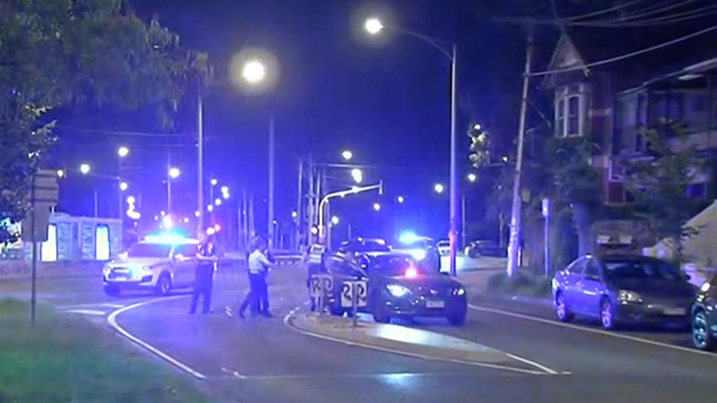 Manhunt underway after St Kilda stabbing