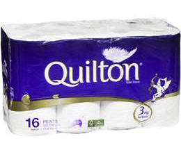 The company owns Quilton toilet paper, Naturale hand towels and Symphony tissues.