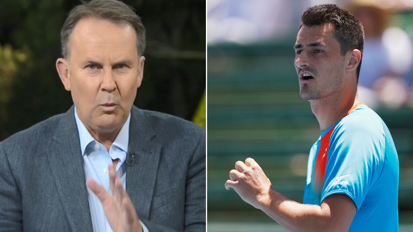 Tony Jones and Bernard Tomic