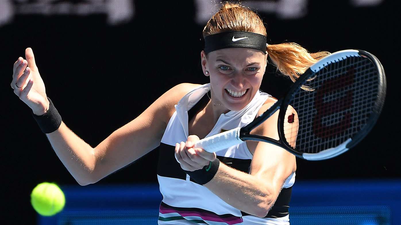 Kvitova sheds tears on way to Aussie Open semis