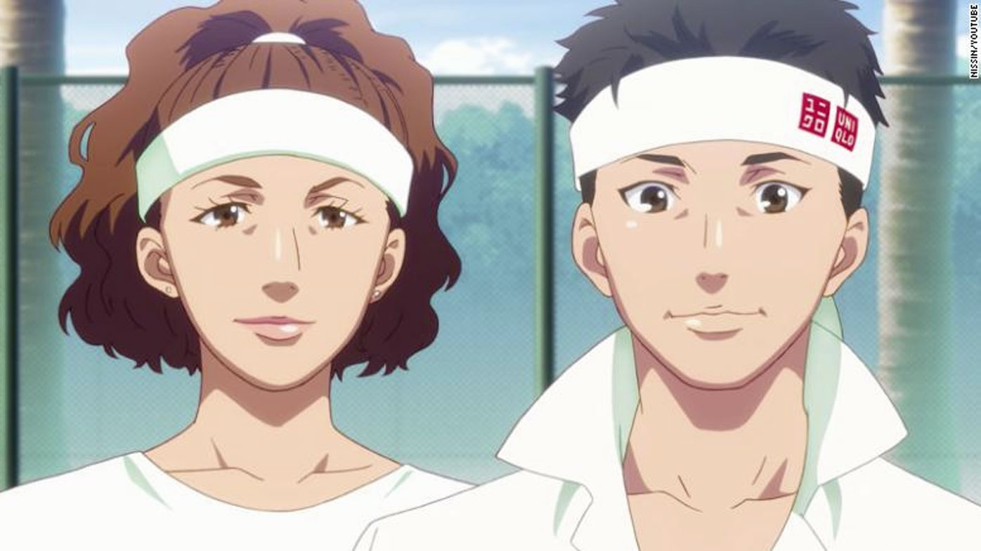 Osaka and Nishikori's controversial depiction in the advertisement