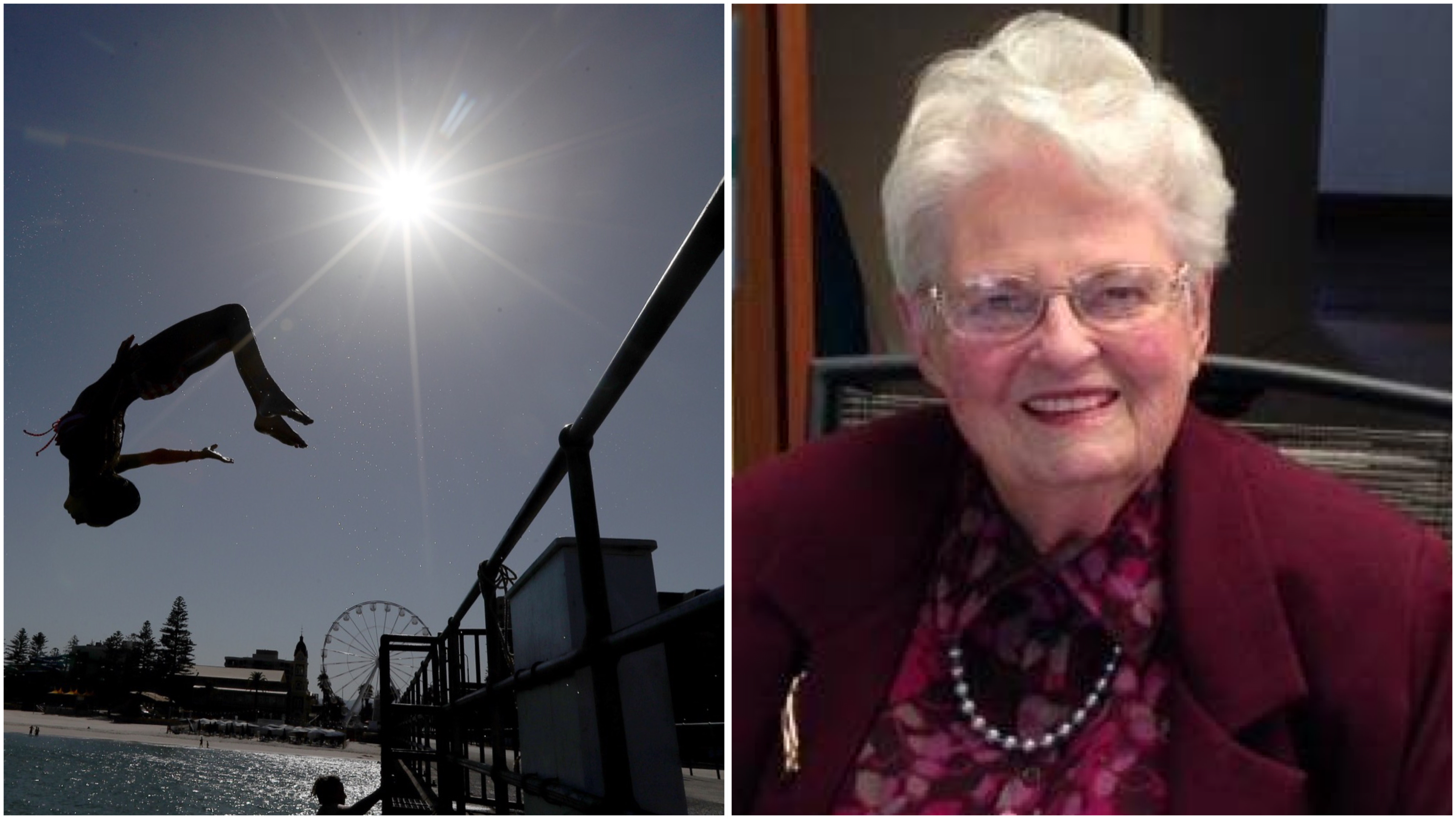 Great-great grandmother has lived through both of Adelaide's hottest days