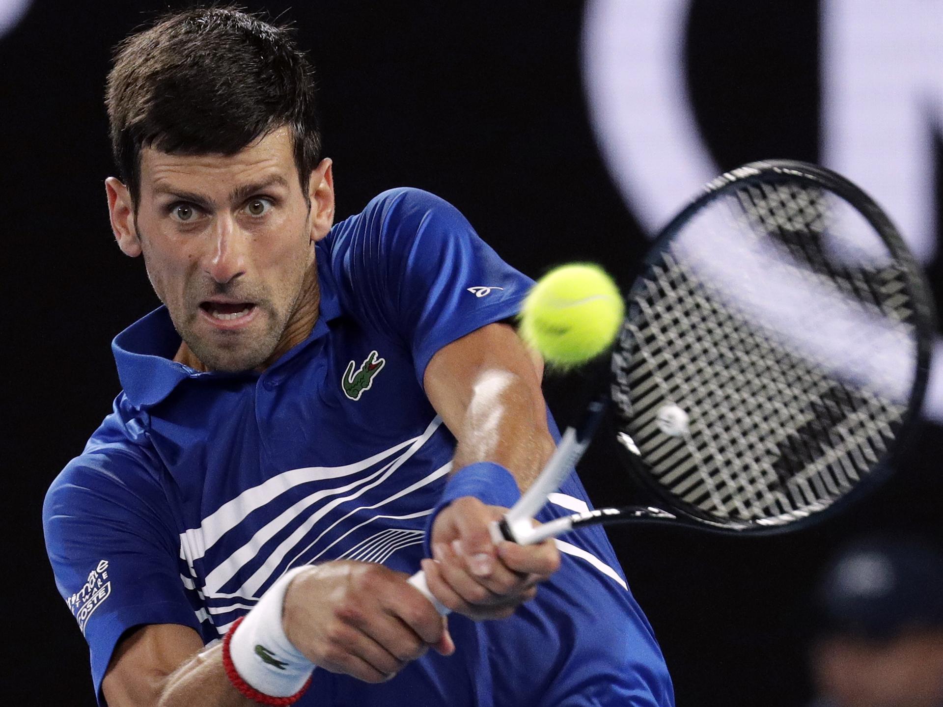 Australian Open Day 12 Semi Final Novak Djokovic Lucas Pouille