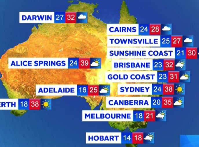Australia weather: Victorian storms, scorching Sydney heat and QLD