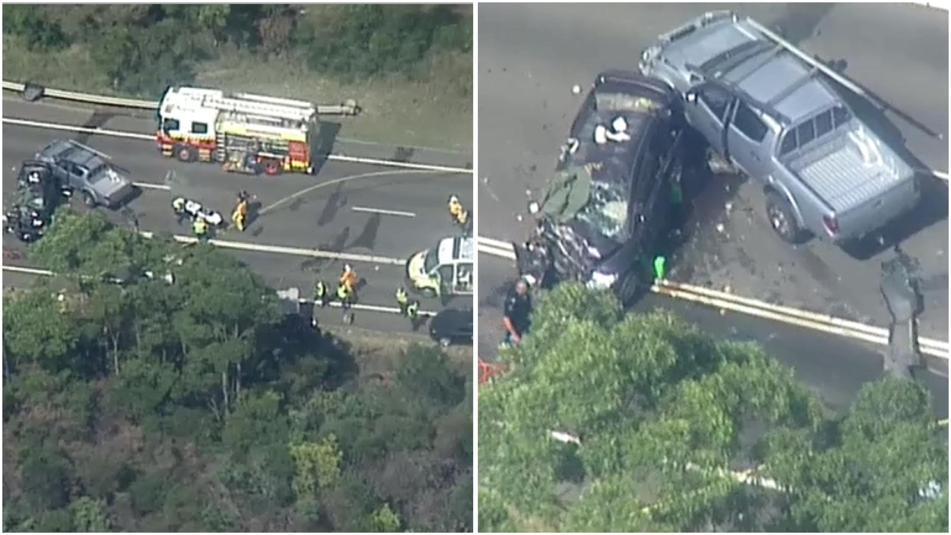 sydney news: lucas heights four vehicle crash heathcote road serious