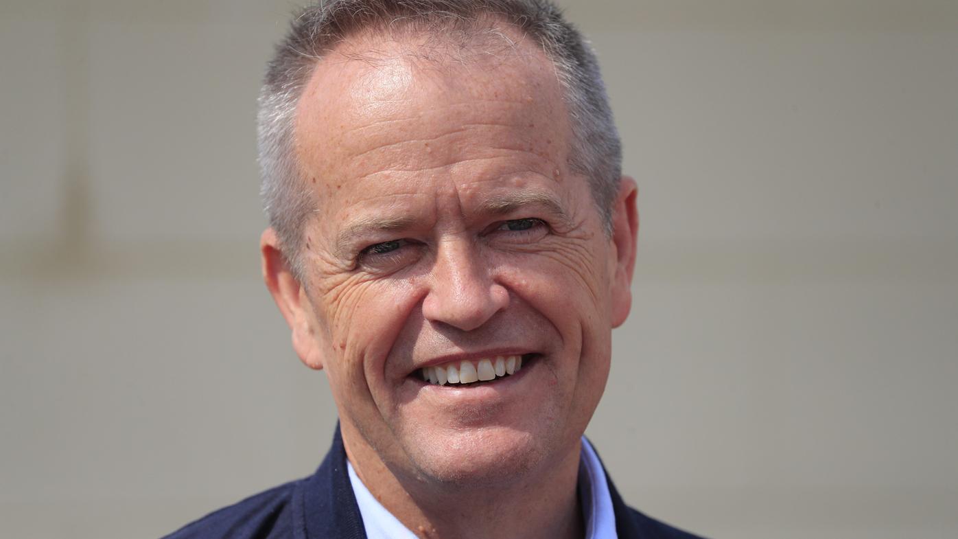Bill Shorten at the Emergency Evacuation Centre in Tasmania.