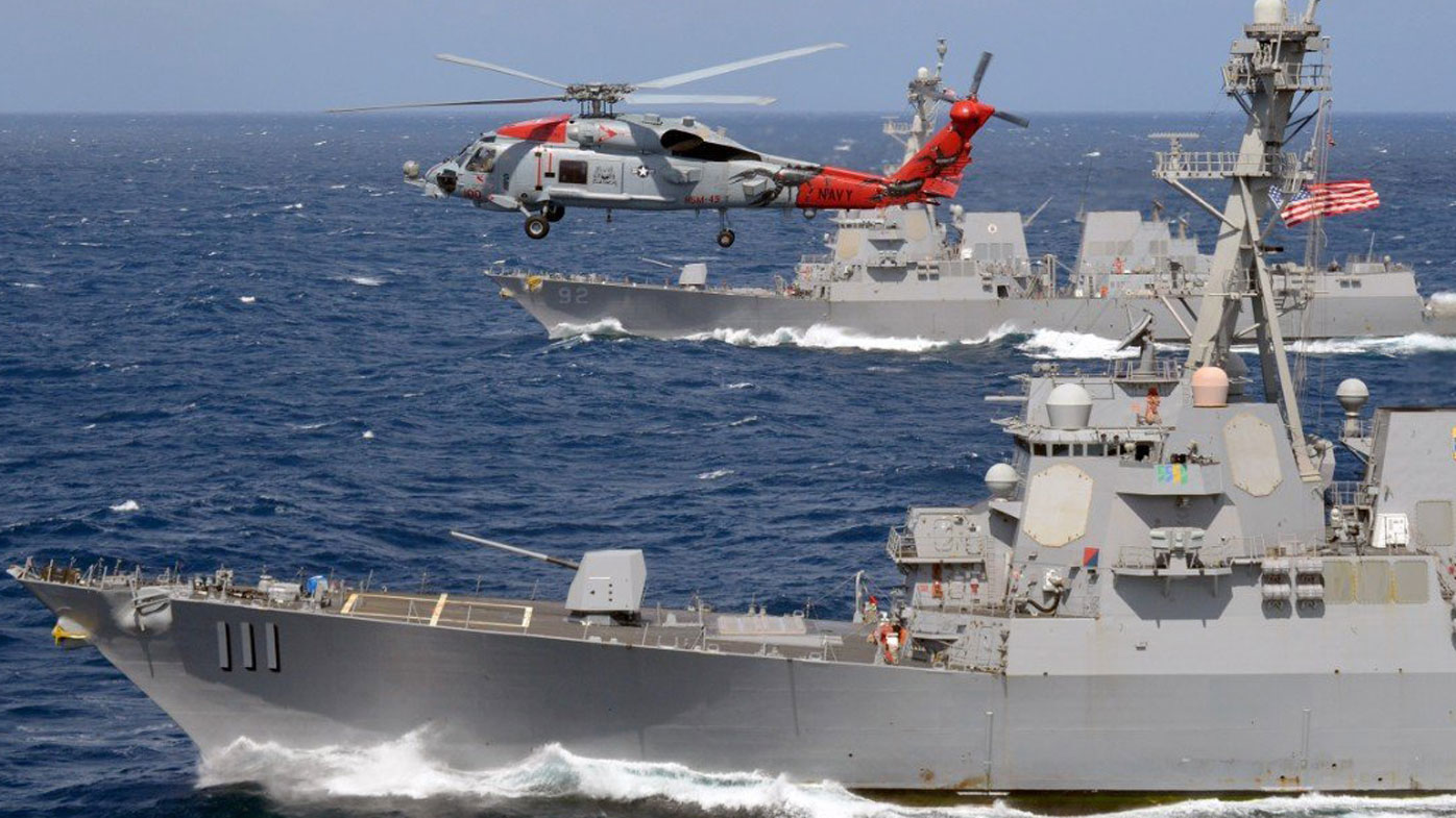 US warships again challenge for South China Sea