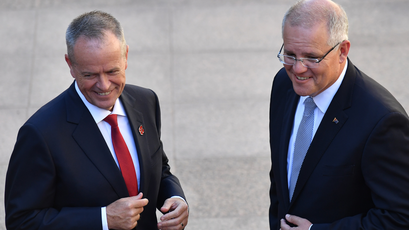 Bill Shorten, Scott Morrison agree to cease political advertising on Good Friday, Anzac Day