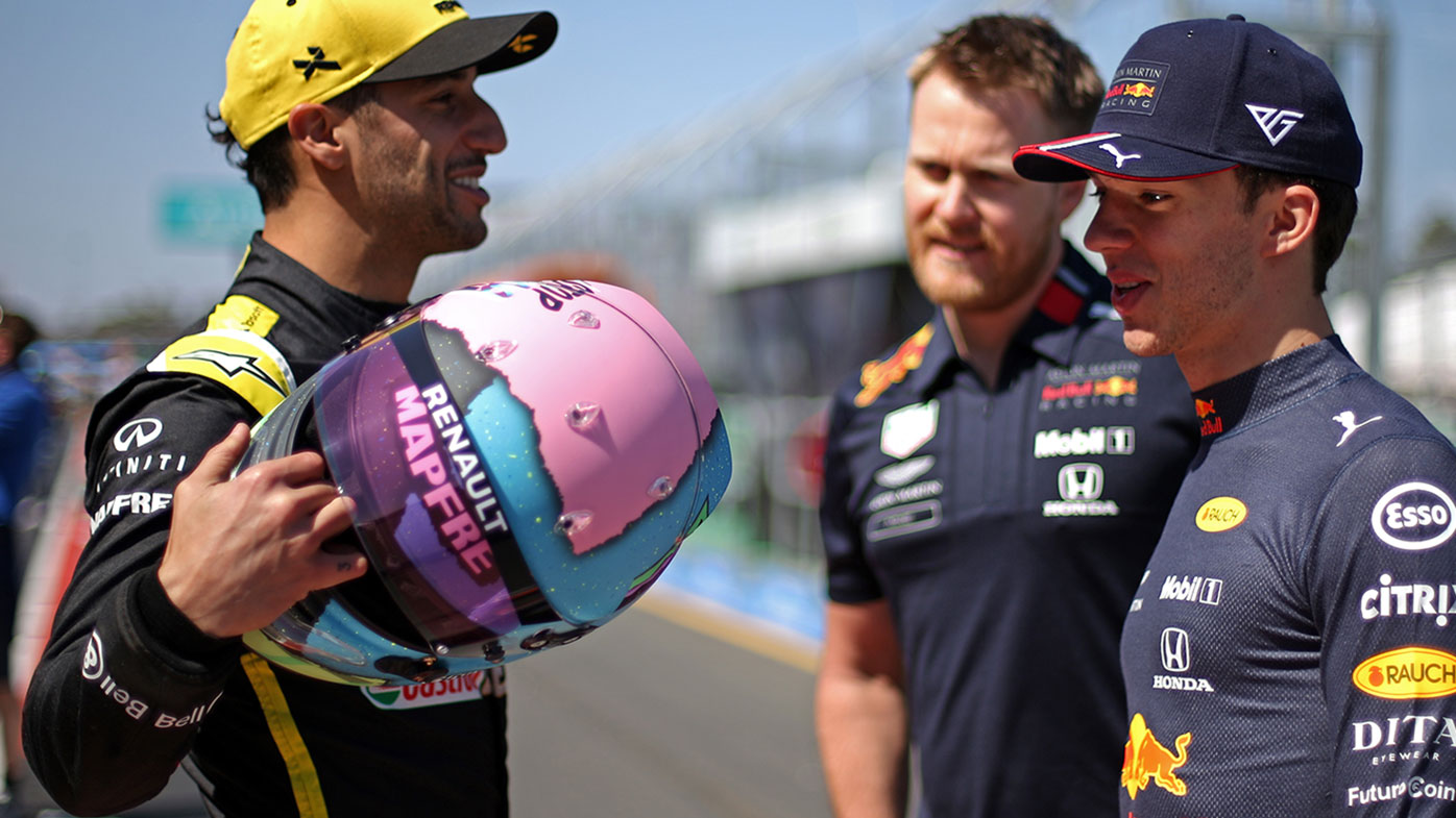 Daniel Ricciardo (left) and Pierre Gasly