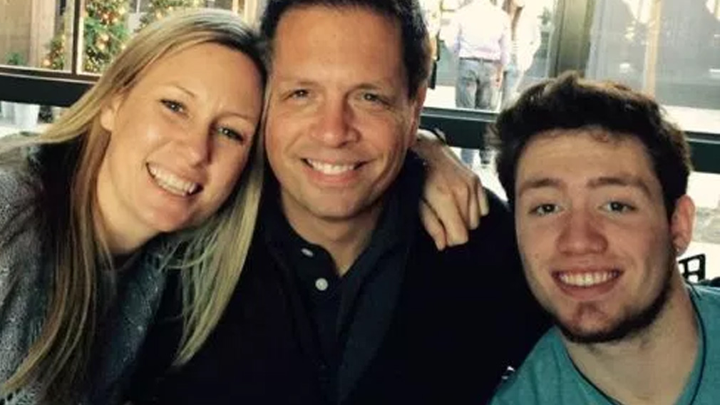 Justine Ruzczyk with her fiance Don Damond and his son