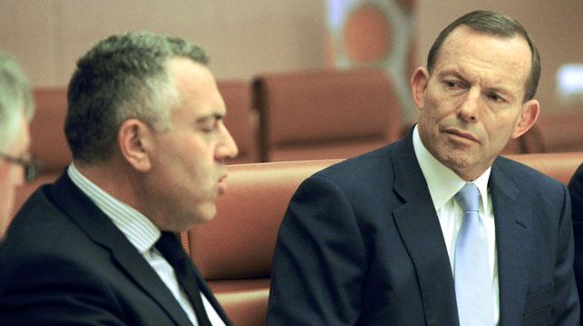 Joe Hockey and Tony Abbott. (AAP)
