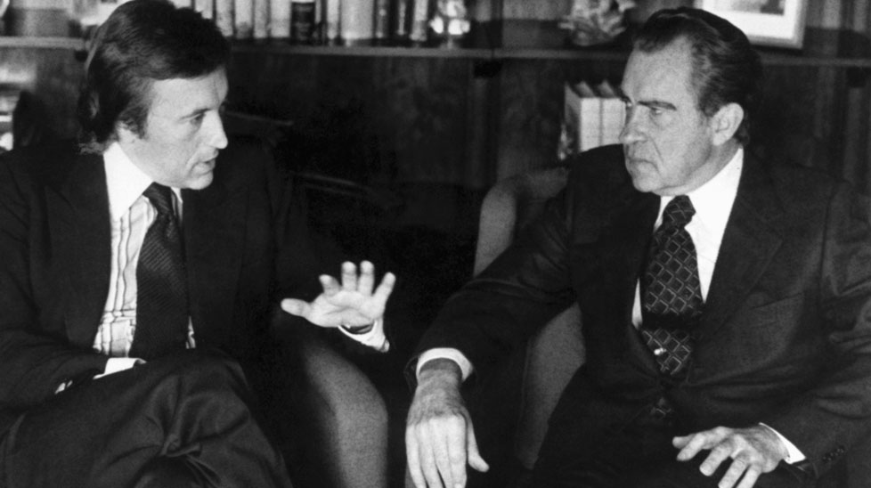 David frost is remembered as the man who interviewed Richard Nixon when he apologised for Watergate. (AAP)