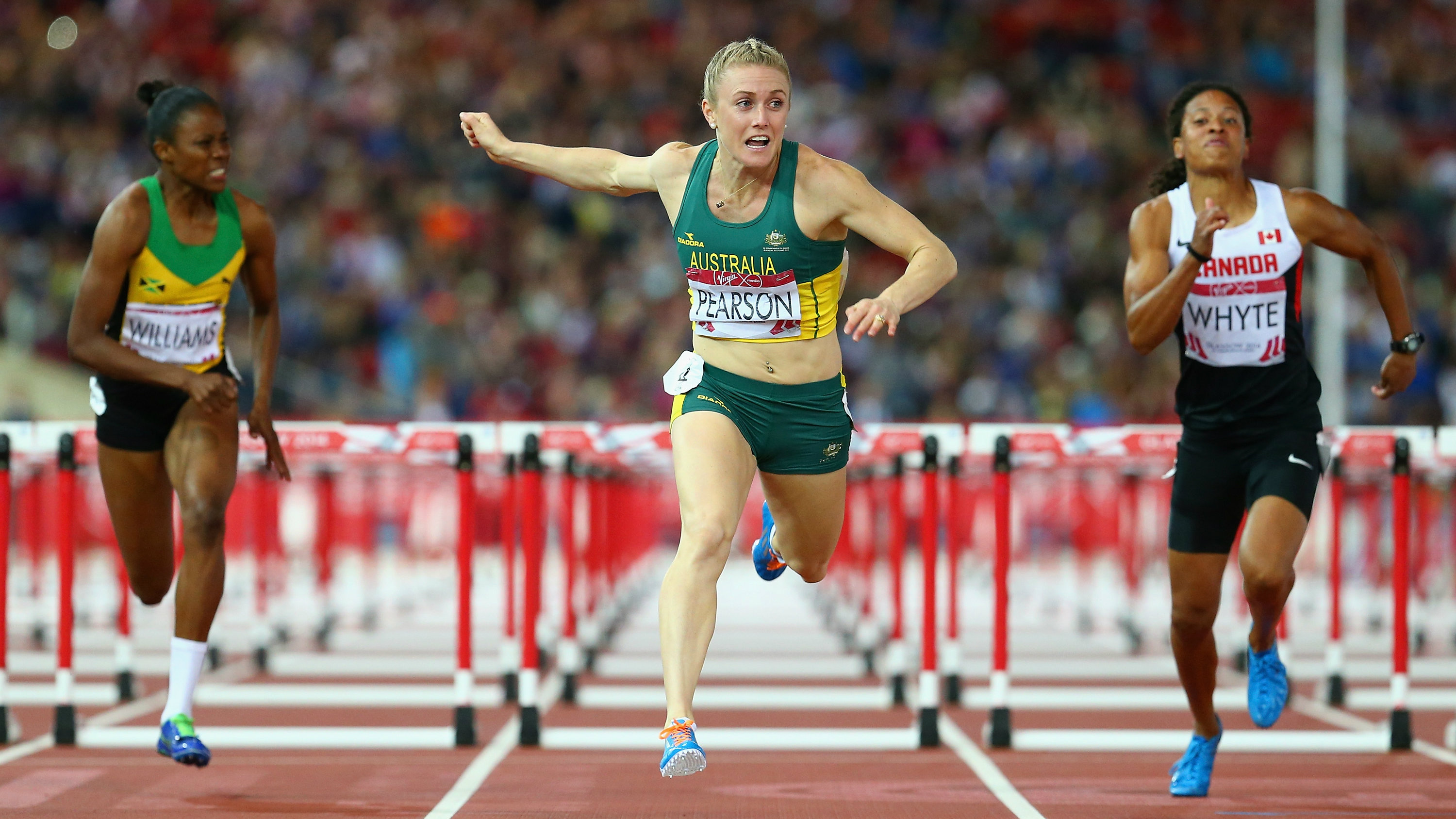 Star of the track: the 27-year-old brought home gold in the final, after a week of controversy and an injury-plagued lead-up to the Glasgow Commonwealth Games. (Getty Images)