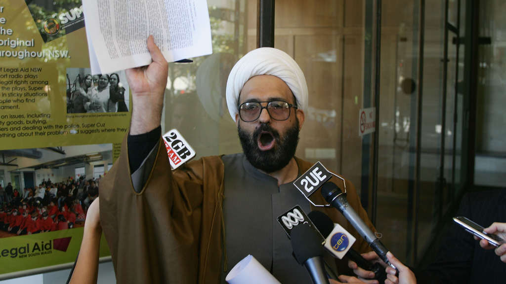 Sheik Man Haron Monis during one of his recent court appearances. (AAP)