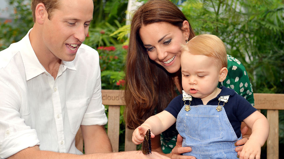 Prince William, Duchess Kate and Prince George. (AAP)