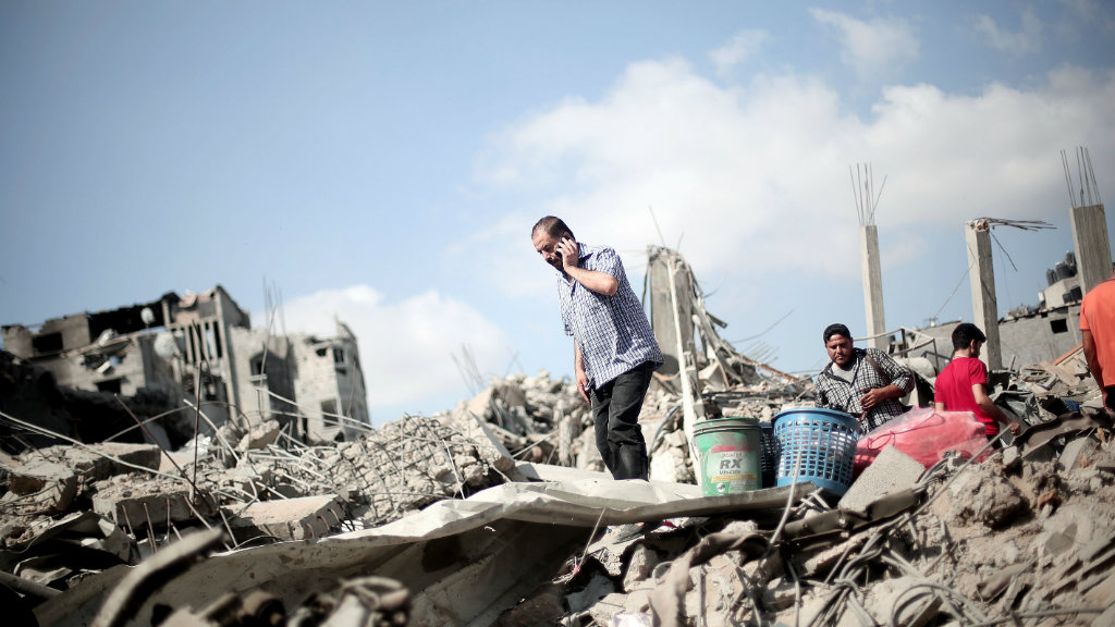 Dozens of bodies have been pulled from the rubble during the truce in Gaza. (Getty).