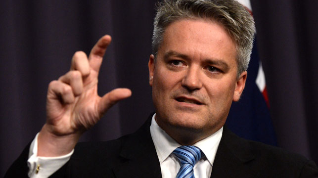 Finance minister Mathias Cormann during a press conference at Parliament House Canberra. (AAP)