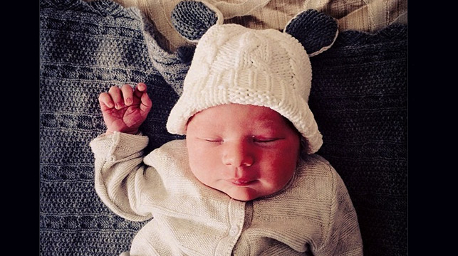Hamish Blake and wife Zoe's new baby boy Sonny (Instagram).