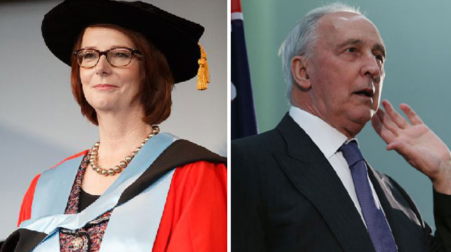 Julia Gillard's popularity sank, but not as far as Mr Keating's. (APP)