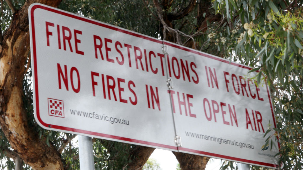 Total fire ban for Victoria's northwest with severe conditions