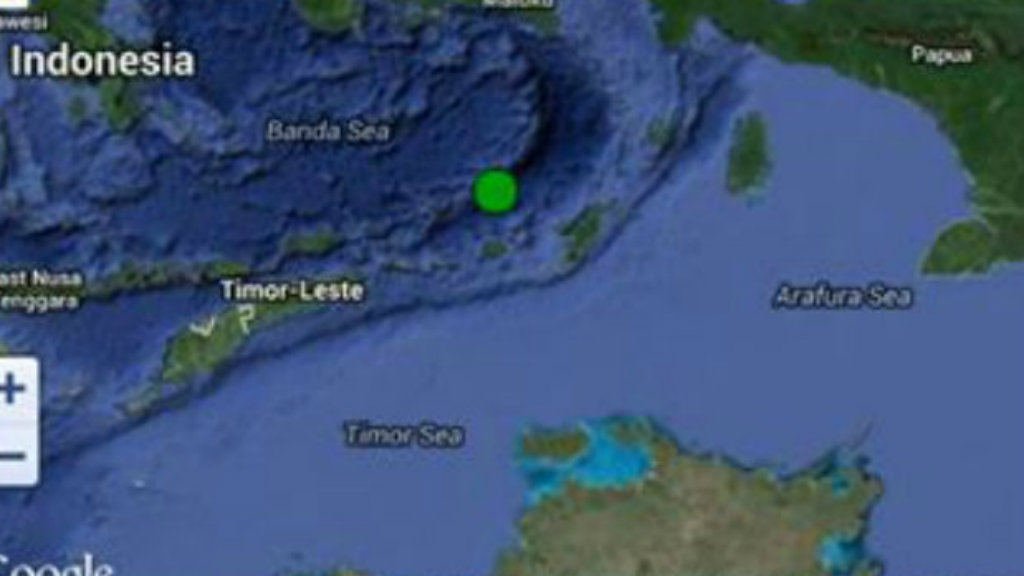 Darwin rattled by ocean earthquake