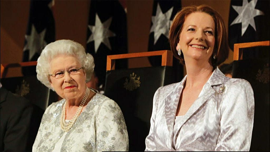 Julia Gillard said while she is a Republican, she enjoyed meeting the Queen. (9News)