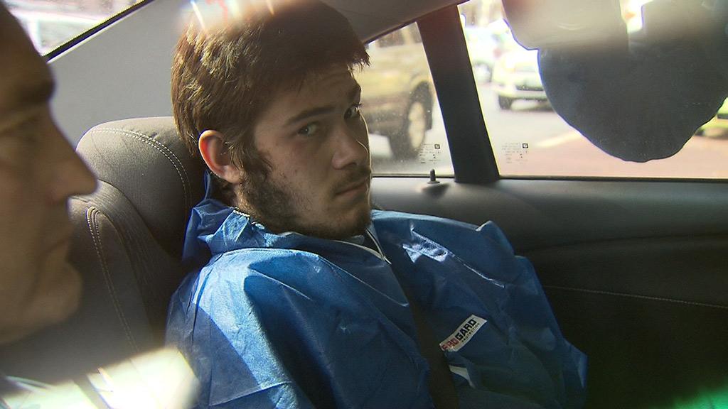 Melbourne terror accused Sevdet Besim outside court. (9NEWS)
