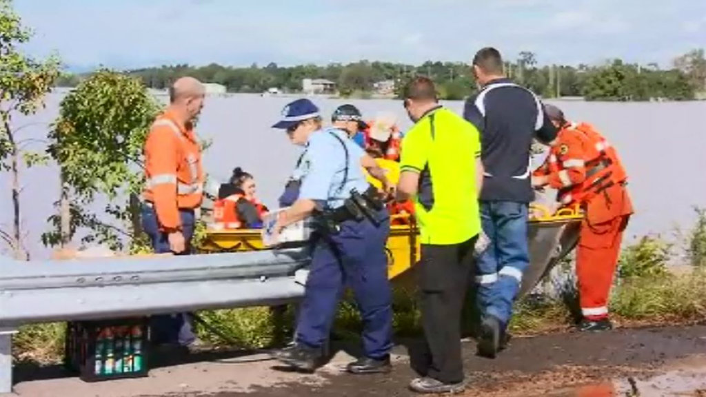 Supplied are prepared for the stranded residents in Gillieston Heights. (9NEWS)