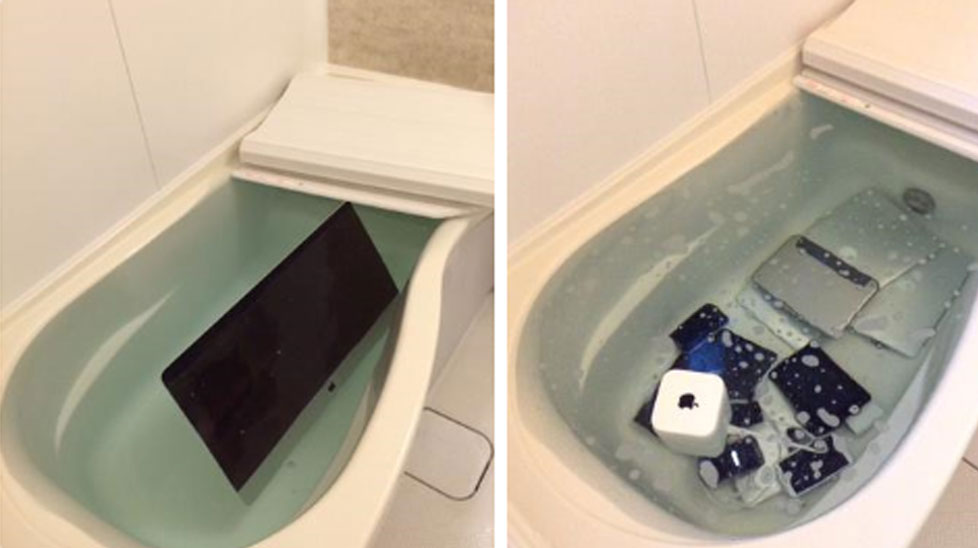 """<p _tmplitem=""""1"""">A Japanese woman has delighted her Twitter followers with a photo showing exactly how she got revenge on her cheating boyfriend.</p><p _tmplitem=""""1""""> The image, shared by the jilted woman last week, shows several thousand dollars worth of Apple products lying in her bathtub. </p><p _tmplitem=""""1""""> The sorry collection includes not only an Apple TV but several laptops and a tablet as well. </p><p _tmplitem=""""1""""> The woman is by no means the only one getting their own back on a cheating partner in a very public way. Click through this gallery to see more. </p><p _tmplitem=""""1""""> </p><p _tmplitem=""""1"""">A Japanese woman has delighted her Twitter followers with a photo showing exactly how she got revenge on her cheating boyfriend.</p><p _tmplitem=""""1""""> The image, shared by the jilted woman last week, shows several thousand dollars worth of Apple products lying in her bathtub. </p><p _tmplitem=""""1""""> The sorry collection includes not only an Apple TV but several laptops and a tablet as well. </p><p _tmplitem=""""1""""> The woman is by no means the only one getting their own back on a cheating partner in a very public way. Click through this gallery to see more. </p><p _tmplitem=""""1""""> </p>"""