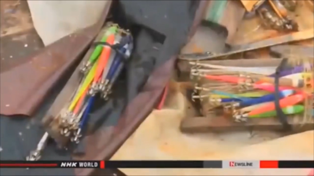 Fishing tackle. (NHK)