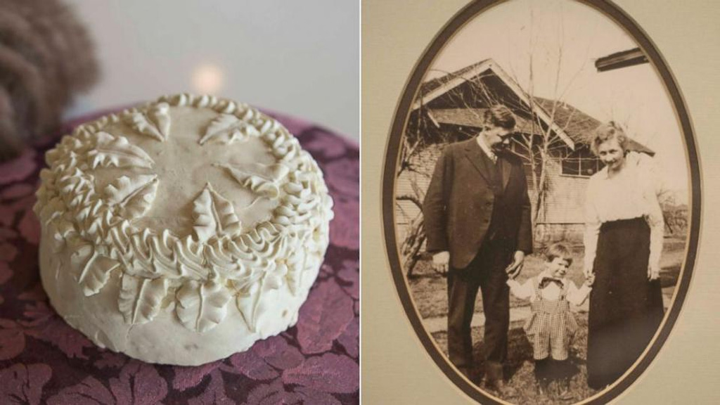 Rediscovery of 100-year-old wedding relic in US man's garage takes the cake