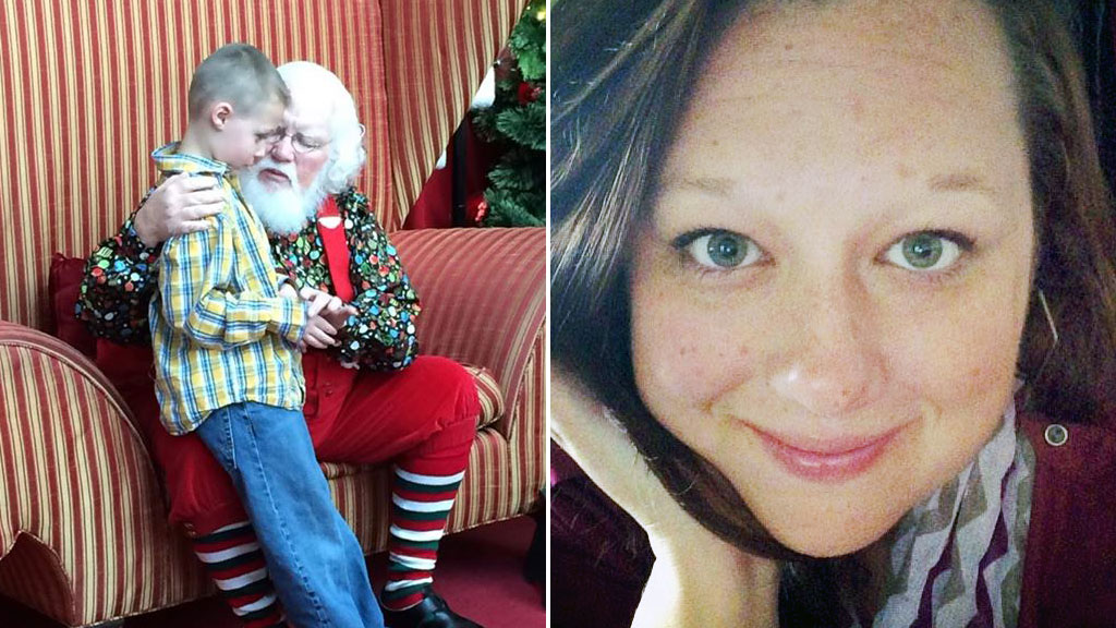Mother celebrates mall Santa's kindness towards son with autism
