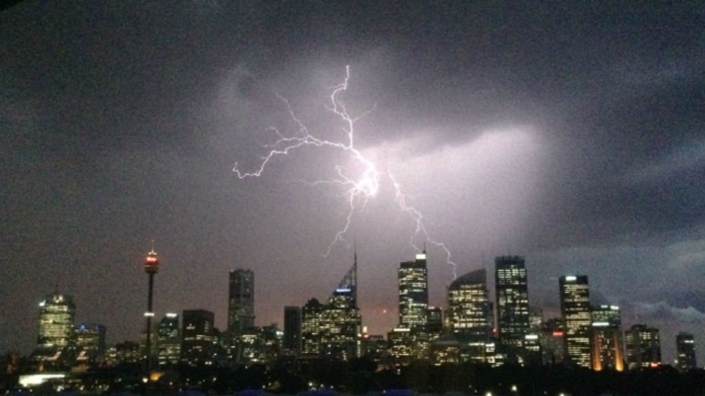 Severe thunderstorms roll through Sydney and the Central Coast