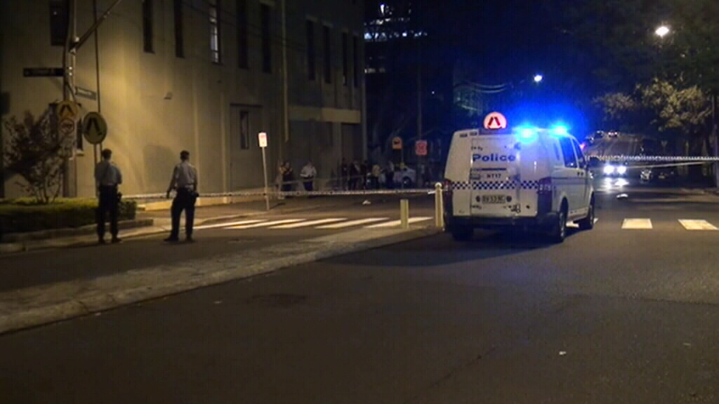 A man was arrested at the scene. (9NEWS)